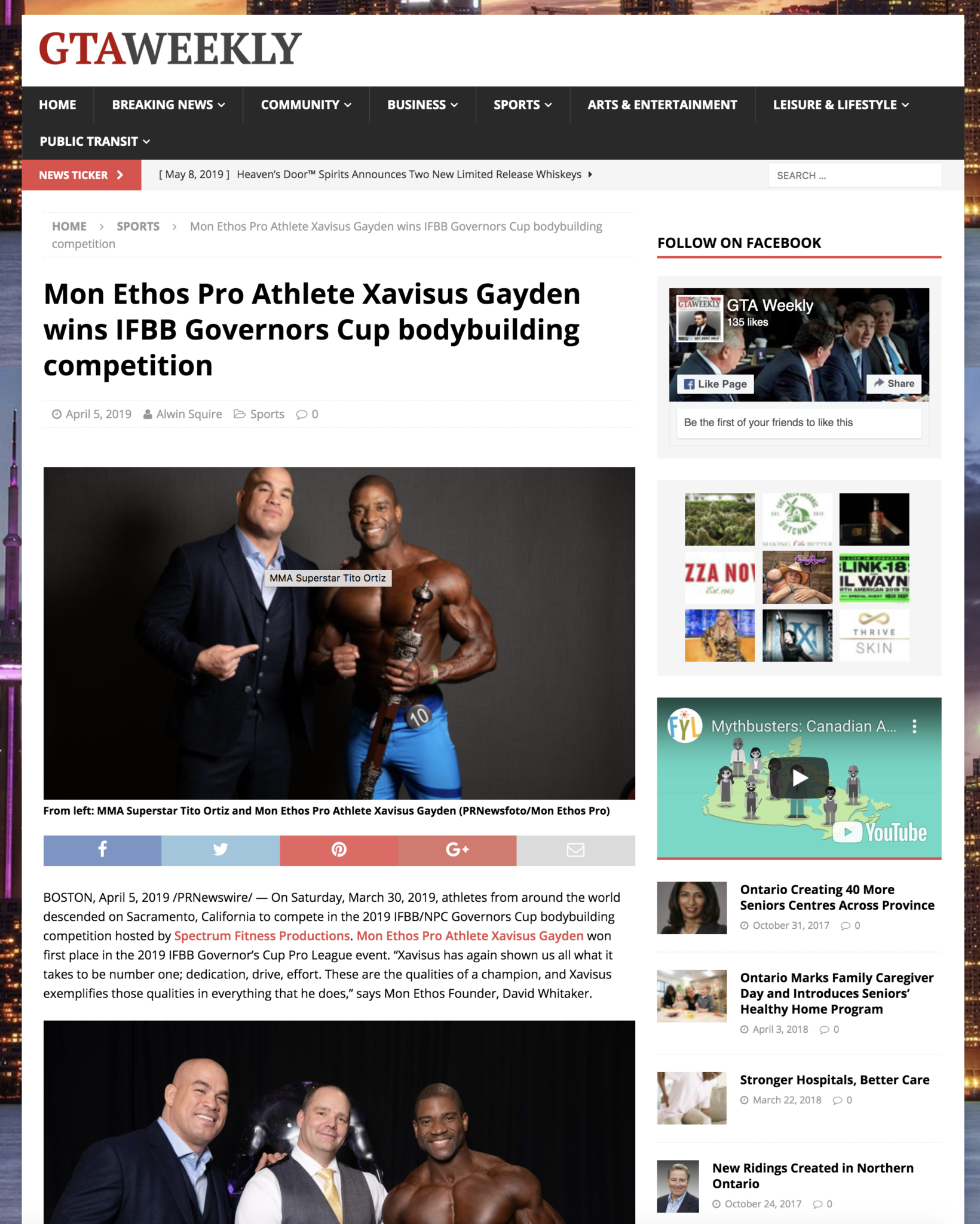MMA Superstar Tito Ortiz and Mon Ethos Pro Athlete Xavisus Gayden